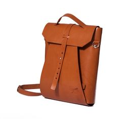Leather backpack. Laptop leather bag. Designed by Ludena.