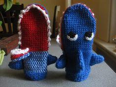 Crochet Shark Mittens!