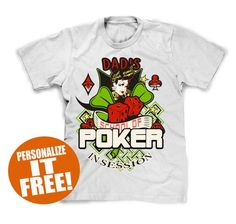 Personalized poker t-shirt makes a great gift....by FunhouseTshirts http://ibeebz.com