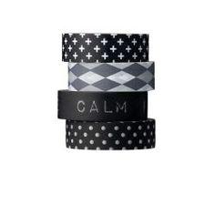 Bloomingville / Samolepící designová páska Black patterns