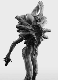 ArtStation - Link Fanart-New Renders, Fabricio Batista Monster Concept Art, Alien Concept, Fantasy Monster, Monster Art, Dark Creatures, Fantasy Creatures, Arte Horror, Horror Art, Creature Feature