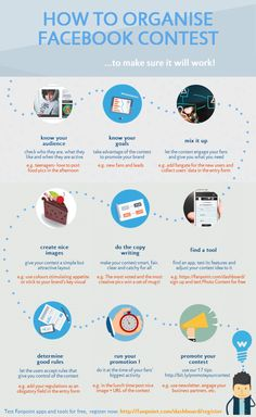 Recipe for the perfect Facebook contest!    Infographic in better quality: http://blog.fanpoint.com/infographic-1-how-to-organise-successful-facebook-contests/