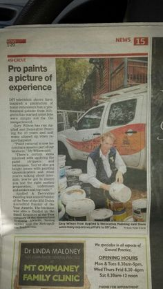 Your Brisbane house painters in the local paper