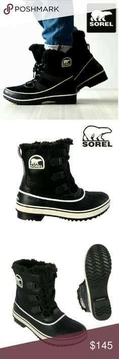 NEWSOREL TRIPOLI LEATHER SNOW BOOTS NEW NWOT SOREL TRIPOLI BLACK SUEDE  WATERPROOF SNOWBOOTS SZ 10 Please See Full Description Last Picture. Ask Questions if Needed Sorel Shoes Lace Up Boots