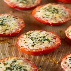 Parmesan and Asiago Cheese Roasted Tomatoes Recipe