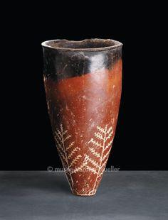 Céramique rouge à bord noir, culture de Nagada I - Égypte prédynastique et pharaonique - Les Musées Barbier-Mueller