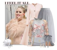 Floral Sweater by dgia on Polyvore featuring polyvore fashion style Esme Vie Chicwish Valentino Launer Samira 13 Cotton Candy clothing