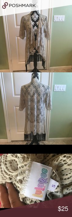 LulaRoe Monroe Kimono In great pre loved condition no tips stains or tear LuLaRoe Sweaters