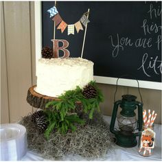 Woodland baby shower cake - I want to do this on the bottom except on the top I will do the white cake with the meringue mushrooms @CABernet Hubler