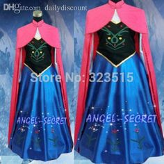 Wholesale 2015 Snow Queen Princess Anna Made Cosplay Costume For Adult Womens With Cloak Coronation Dress Cheap Cosplays Anime Halloween Costume From Dailydiscount, $29.92| Dhgate.Com