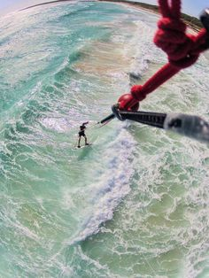 Kite surfing... this is awesome!