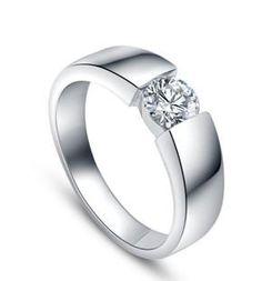 d5b748f4bb2f Envío libre ------ anillo de bodas del anillo de los hombres del diamante  del oro blanco 18K