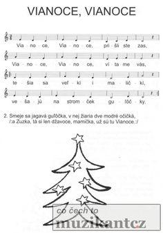 Výsledek obrázku pro dětské písničky noty vianoce,vianoce