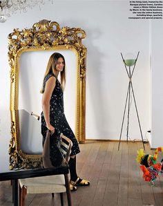 *carolina castiglioni *milan *gold mirror *wood floors