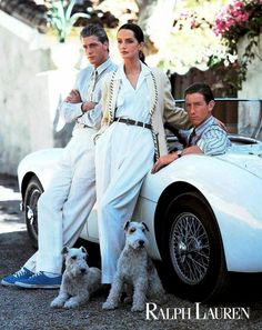 A trio of models channel vintage Monaco in this Ralph Lauren campaign.  23 Iconic Moments From Ralph Lauren on Yahoo Style
