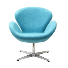 Wing Lounge Chair in Baby Blue Perhaps no chair is more synonymous with organic design than the Wing chair. First intended as an outstretched reception chair, Poltrona Swan, Swan Chair, Living Room Chairs, Lounge Chairs, Dining Room, Upholstered Chairs, Modern Chairs, Modern Lounge, Stylish Chairs