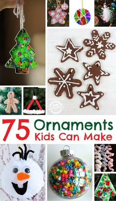 Ornaments Kids Can Make  - over 75 ideas for all ages!