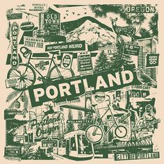 Love this for my frame collage wall Portland City, Oregon City, State Of Oregon, Portland Oregon, Visit Portland, Rose City, Historical Sites, Pacific Northwest, Travel Posters