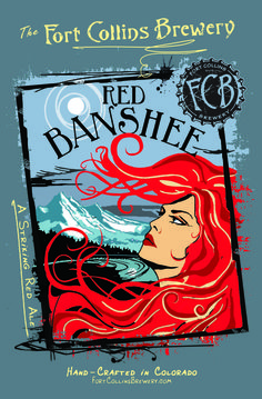 Fort Collins Red Banshee Ameican Amber / Red is 5.3 ABV and 33 IBU.  The appearance is copper and the nose sweet burnt sugar toffee malts. The taste basically follows with that sweet malt profile indicative of the style.  The finish is nicely but lightly bitter.  The sweetness could get cloying if it warmed up too much overall decent representation of the style.  Good overall but nothing great.  The mustard recipe they give with use of the beer looks great.