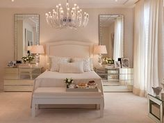 Bedroom Decor Ideas, Home Decor Ideas, bedroom design, Decor Ideas, Luxury… Dream Bedroom, Home Bedroom, Bedroom Decor, Bedroom Ideas, Closet Bedroom, Dream Rooms, Bedroom Yellow, White Bedroom Furniture, Master Bedrooms