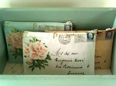 make up bags- inspired by vintage postcards