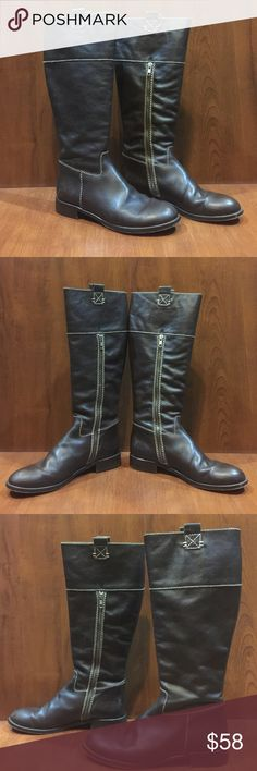 EUC Boden Brown Leather Riding Boots Excellent used condition Boden Brown Leather riding boots. Size 41. US size 9 1/2 Boden Shoes Heeled Boots