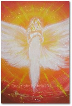 Limited angel art photo, digital print, abstract contemporary angel painting…