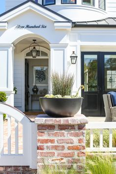 Planter Ideas. Potted Plants. Home Planter Ideas. front entry Planter. #planter Patterson Custom Homes. Interiors by Trish Steele, Churchill Design.
