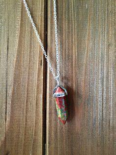 Calico Scallop Necklace
