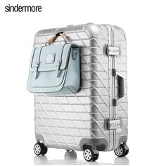 """This is a High Quality, Aluminum Frame, Hard Side Suitcase, 20"""", 24"""",26"""" or 28"""" luggage with Drawbar & Spinner Wheels with Hidden Carrying Hook. Main Material: PC Caster: Spinner With Lock: Yes Item Length: 54-75cm Item Weight: 4-6.2kg Item Width: 35-49cm Luggage Type: Hardside Luggage Have Drawbars: Yes Luggage Size: 20"""", 24"""", 26"""", 28"""" Gender: Unisex Item Height: 23-28cm Item Type: Luggage capacity: 20 - 35l-35r color: White, Rose Gold, Silver, Black, Blue"""