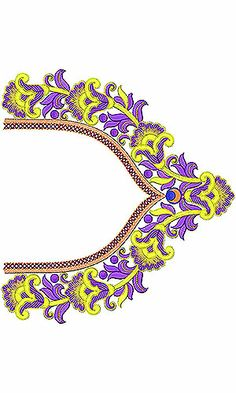 Now you can enjoy our Premium Range Embroidery Designs of Neck Embroidery On Clothes, Hand Work Embroidery, Hand Embroidery Designs, Embroidery Patterns, Machine Embroidery, Design Of Neck, Silk Saree Blouse Designs, Neck Pattern, Fashion Sewing