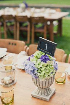 Napa Wedding by onelove photography + Off the Beaten Path Weddings Simple Centerpieces, Wedding Table Centerpieces, Wedding Table Numbers, Wedding Decorations, Bridesmaid Luncheon, Bridal Luncheon, Our Wedding, Dream Wedding, Garden Wedding