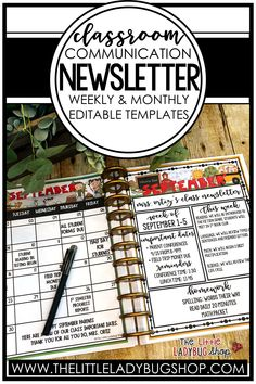 Are you looking for an easy prep school editable newsletter template to help you communicate weekly or monthly with parents & staff? These easy prep editable newsletters are perfect for you. Within a few minutes your beautiful editable weekly newsletter information is ready to send out digitally or to print. Many Class Newsletter options are included! You will love using this format and your parents will adore these beautiful monthly themed newsletter templates for school. #thelittleladybugshop