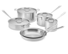 I swear the food tastes better with All-Clad pans. Easy to clean, lasts forever, sears the food perfectly