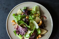 Ginger Miso Salad from www.food52.com . Very enjoyable salad, lots of intriguing flavours. The Asian pears were an especially nice touch. I'll make this again!