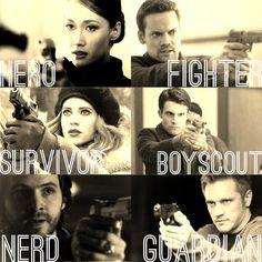 Nikita, Michael, Alex, Sean, Birkhoff, and Owen from Nikita.