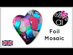 Polymer Clay   Tutorial DIY Easy   Mosaic Foil Effect   ENG - YouTube
