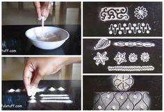 Rangoli basic techniques and innovative rangoli patterns | Poonam Borkar rangoli - YouTube