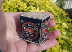 Miniature, Advertising, Tin, Huntley and Palmers, Biscuits, Small, Collectors, Vintage, Sample, Toy, Dolls, Pre War, Souvenir, Novelty, Rare by DecadentAndFabulous on Etsy