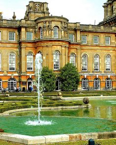 Blenheim Palace, residence of the dukes of Marlborough and birthplace of Winston Churchill. the grandson of the 7th duke.  Blenheim Palace was a gift from Queen Anne and a grateful nation to John Churchill, 1st Duke of Marlborough following his famous victory at the Battle of Blenheim in 1704.