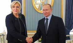 Marine Le Pen meets Vladimir Putin at the Kremlin. Vladimir Putin meets French far-right candidate Marine Le Pen in Moscow  Russian president tells Front National candidate that Russia has no intention of meddling in French elections