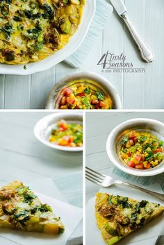 Vegetable tortilla with grilled corn salsa
