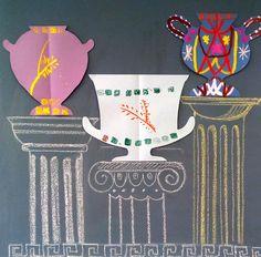 Древнегреческая вазопись #artstudio #ka-var-dak #kavardak #art with kids #ancient greek vase #meandr #vase