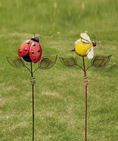 Ladybug & Bee Stake Set