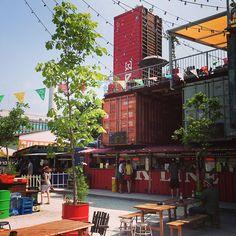 Frau Gerolds Garten, Beach Bar and Lounge, Escher Wyss, Zurich Suiza Zurich, Rambler House, Container Architecture, Beach Bars, River House, Rooftop Bar, Lounge, London, Day Trips