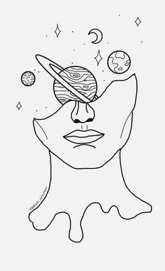 Doodle art 624311567082884967 - freetoedit dibujo galaxia universo planetas luna estrel… old school frases Source by Cute Easy Drawings, Cool Art Drawings, Pencil Art Drawings, Doodle Drawings, Drawing Sketches, Drawing Ideas, Drawing Faces, Tattoo Sketches, Drawing Things