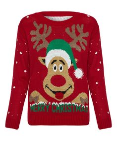 Red 'Merry Christmas' Sweater