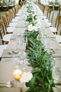Peach garden rose garland. Event Design And Coordination: Kate Fujimoto Event Design   Florals: Moon Canyon Design. Photography: Sargeant Creative - sargeantcreative.com  Read More: http://www.stylemepretty.com/california-weddings/2014/06/23/elegant-ranch-wedding-in-malibu/