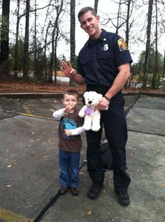 """#4 came when we visited the local firehouse to deliver a teddy bear our 4 year old picked out for their Toys For Tots drive. We thanked the young man and made sure he passed on our appreciation for the work all of his fellow first responders do."" 