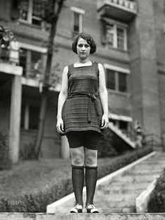 1922. Miss Washington in bathing suit. Concealed yet revealed, Evelyn Lewis at the Wardman Park Hotel pool on a nippy day.